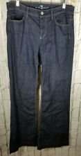 7 for All Mankind Darkwash Ginger Flare Leg Jeans Sz 32 X 32 Womens Tall $189