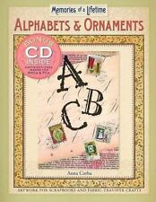 Alphabets & Ornaments: Artwork for Scrapbooks & Fabric Transfer Crafts--FREE S/H