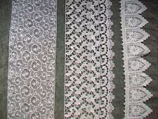 Antique Needle Lace Lot Off White edgings; approx. 5 yards