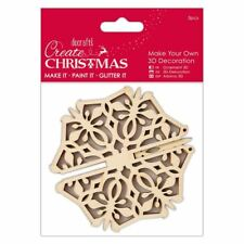 Papermania Create Christmas Make Your Own 3D Snowflake Decoration by DoCrafts