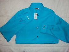 "NWT! Mens Express 1MX ""Fitted"" Button Front Shirt-L/S-S (14-14.5)"
