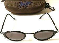 MAUI JIM RARE LANIKAI SUNGLASSES - Gloss Black w Grey Polarized Lenses MJ 128-02