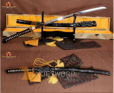 JAPANESE SAMURAI SWORD KATANA T10 CLAY TEMPERED BATTLE READY BLADE CAN CUT TREE