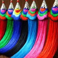 Women Bohemian Vintage Long Tassel Fringe Boho Hook Dangle Earrings Fashion
