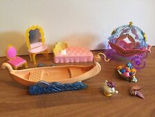 Polly Pocket Doll Disney Princess Accessories Rupunzel Eugene/Flnn Boat
