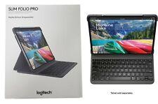 """Funda Delgada Folio Pro Logitech Bluetooth Teclado Retroiluminado iPad Pro 12.9"""" 3rd generación"""