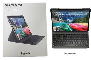 """Logitech Slim Folio Pro Case Backlit Bluetooth Keyboard iPad Pro 12.9"""" 3rd Gen"""