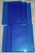 (6) SIX PS4 Translucent BLUE Replacement Empty Game Cases NEW!