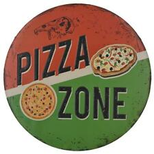 Baoblaze Metal Tin Signs Poster Plaque PIZZA ZONE Kitchen Home Wall Decal