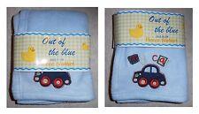 Copertina azzurra Out of blue cm 100x78 in pile con macchina My Car
