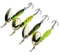 4pcs Spinner Baits Fishing Lures 15g/9cm Spinnerbait Trout Metal Spoon Willow