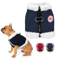 Winter Warm Dog Walking Harness Fleece Padded Pet Puppy Cat Vest Harness Bulldog