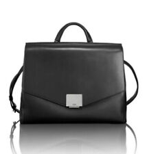 New Tumi Mariella Tavi Satchel Briefcase Laptop Bag Black Leather MSRP $795