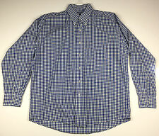 BURBERRY London Men's Button Front Long Sleeve Casual Shirt Size L Large Blue
