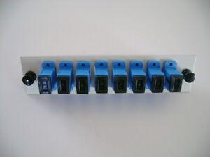 SC/UPC Fiber Optic Adapter Panel 3U w/ 8 Simplex Single Mode Adapters- New