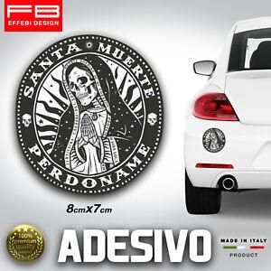 Adesivo Stickers Pegatinas SANTA MUERTE Perdoname Mexican Skull Auto Moto Cross