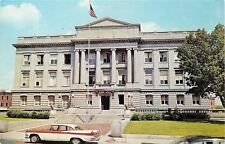 Kenton Ohio~Hardin County Court House~NICE Red White Fins Late 1950s Car~PC