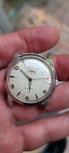 Vintage s/s Hamilton Illinois Accumatic B power reserve indicator rare watch