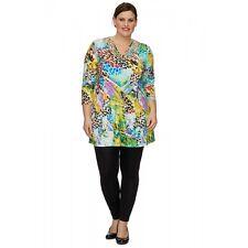 OPHILIA: Tunika Shirt 3/4 Arm A-Linie Bändchen-Dekor Traumteil Gr. 5 (50 - 52)