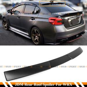 FOR 15-21 SUBARU WRX STI SEDAN MATTE BLACK JDM V STYLE REAR WINDOW ROOF SPOILER