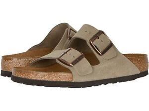 New Men's Birkenstock Arizona Leather Sandals Size US 11-11.5 Euro 44 051461