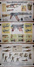 3 Authentic Soviet Military Propaganda KALASHNIKOV Modernised 7,62mm AKM Posters