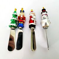 Boston Warehouse Christmas Spreaders Set Of Four Stainless Steel Santa Tree