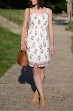 Jcrew Madewell Silk Sandstar Dress Vinefloral Indian Bright Ivory 0 f2130 $150