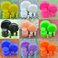 1 Pair Multi-color Glow in the Dark Soft Silicone Flexible Ear Plugs Gauges
