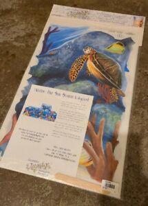 New Decorative Tatouage Transfer Rub Designs Under The Sea Scene Layout Turtle