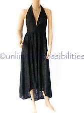 DOTTI Alluring Textured Halter Maxi Dress New Black Size 10 SKU 486640