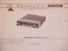 1974 AUDIOVOX AM RADIO SERVICE MANUAL MODEL AM-IC CHEVROLET FORD CHRYSLER DODGE
