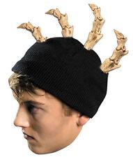 Mohawk Bone Beanie Skeleton Skull Stocking Cap Hat Halloween Costume Accessory