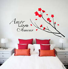 Wall Decal LOVE BRANCH FLOWERS Deco Art Sticker Mural