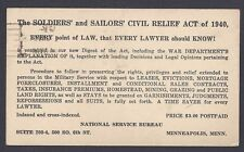 1942 SOLDIERS & SAILORS CIVIL RELIEF ACT OF 1940 HOW TO APPLY FOR RELIEF