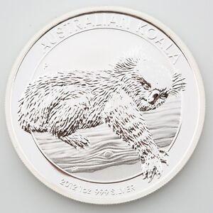 2012-P Australia Silver Koala One Dollar Coin BU 1 oz .999 Elizabeth KM#1689