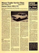 Datsun Cherry 100A F Motor Trader Service Data Aug 1979