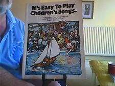 It's Easy to Play Children's Songs-Piano/Vocal/Guitar English Wise 1981