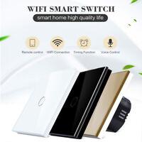 1/2/3 Gang Smart WiFi Touch Wall Light Switch EU/UK Panel for Alexa Google Home