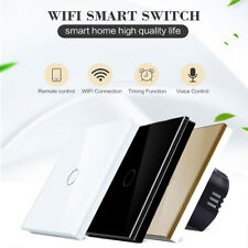 1/2/3 Gang Smart WiFi Touch Wall Light Switch EU/UK Panel for Alexa Google Home