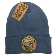 The Great Seal Of State Of California Knit Beanie Color Sky Blue Hat