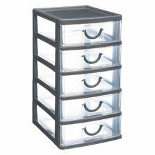 Schubladenbox Thinkling Organizer mit 5 Schubladen, 13 x 16 x 26 cm, grau