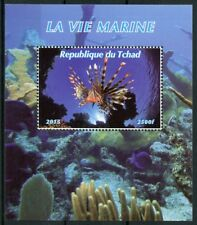 Chad 2015 MNH Marine Life 1v M/S Fish Fishes Corals Coral Stamps