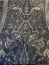 RALPH LAUREN Blue White PUTNEY Paisley KING Tailored Bed Skirt Dust Ruffle