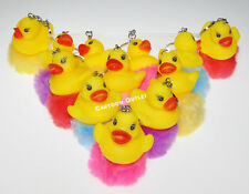 12 X BABY SHOWER Duck KEY CHAINS PARTY FAVORS Bebe RECUERDOS Patos Yellow Ducks