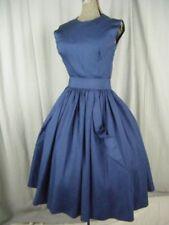 Vêtements et accessoires vintage bleus coton mélangé