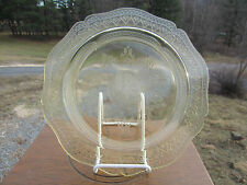 """ANTIQUE YELLOW DEPRESSION PATRICIAN SPOKE FEDERAL GLASS Large Dinner Plate 11"""""""