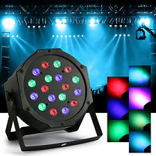 RGB Par Stage Lighting 18-LED DMX-512 Party DJ Disco KTV XMAS Projector Light
