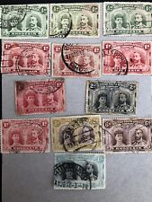 Rhodesia Double Heads Stamp Collection 1910-13