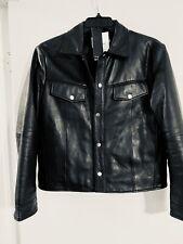 Deadwood Frankie lambskin leather trucker Jacket new with tags $420